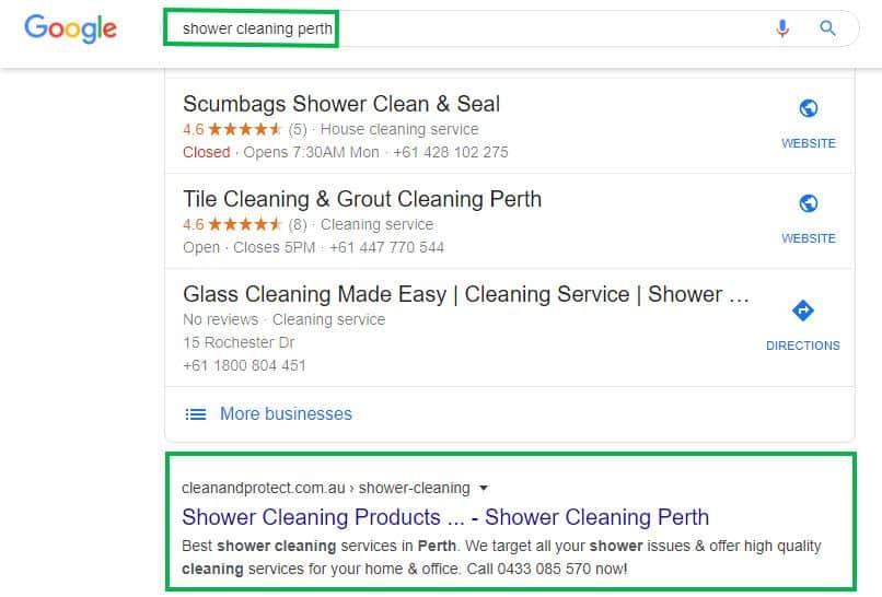 DigitalBull GO - Shower Cleaning Perth #1 Google Organic Ranking