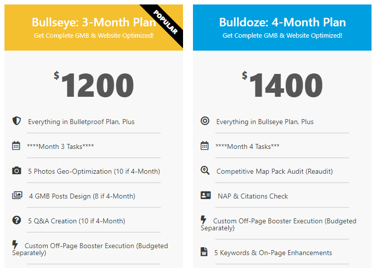 DigitalBull GO - 3 & 4-Month Pricing Plans