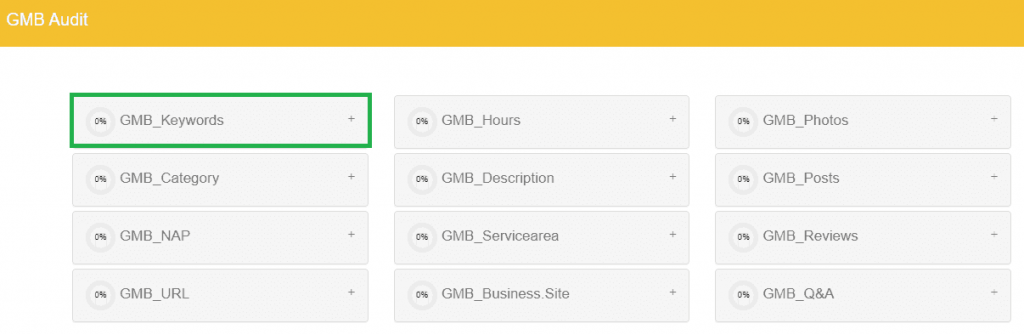 DBG Local SEO Audit Tool Perform GMB Audit