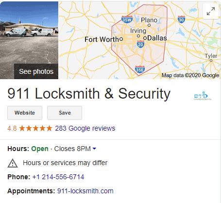 911 locksmith gmb listing