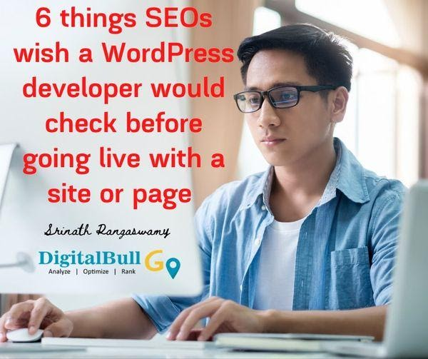 DigitalBull GO Top 6 Things SEOs Wish a WordPress Developer Would Check Before Going Live 3